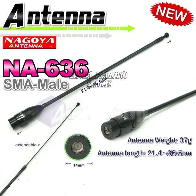 NAGOYA Antenna 1pc x NAGOYA NA-636 SMA DUAL BAND ANTENNA